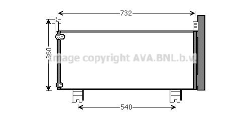 Condenseur / Radiateur de climatisation AVA QUALITY COOLING TO5660D (X1)
