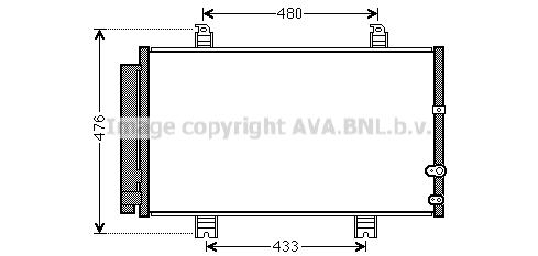 Condenseur / Radiateur de climatisation AVA QUALITY COOLING TO5662D (X1)