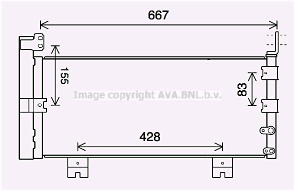 Condenseur / Radiateur de climatisation AVA QUALITY COOLING TO5728D (X1)