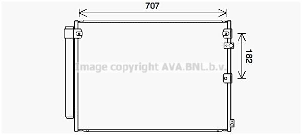Condenseur / Radiateur de climatisation AVA QUALITY COOLING TO5731D (X1)