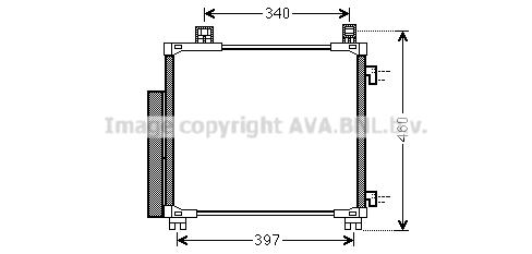 Condenseur / Radiateur de climatisation AVA QUALITY COOLING TOA5578D (X1)