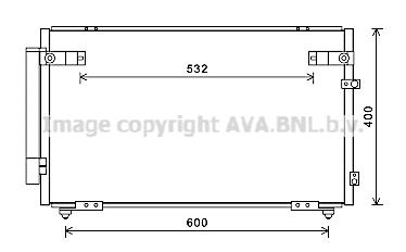 Condenseur / Radiateur de climatisation AVA QUALITY COOLING TOA5621D (X1)