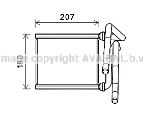 Radiateur de chauffage AVA QUALITY COOLING TOA6727 (X1)
