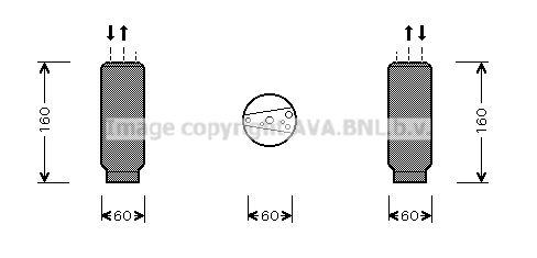 Bouteille deshydratante AVA QUALITY COOLING TOD024 (X1)