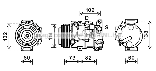 Compresseur AVA QUALITY COOLING TOK639 (X1)