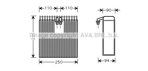 Evaporateur AVA QUALITY COOLING TOV390 (X1)