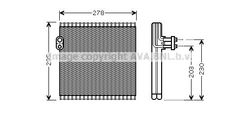 Evaporateur AVA QUALITY COOLING TOV485 (X1)