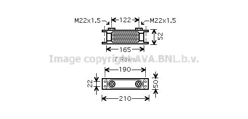 Radiateur huile AVA QUALITY COOLING UV3130 (X1)
