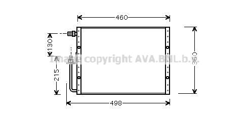 Condenseur / Radiateur de climatisation AVA QUALITY COOLING UV5000 (X1)