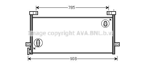 Condenseur / Radiateur de climatisation AVA QUALITY COOLING VL5081 (X1)