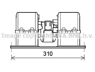 Moteur de ventilateur de chauffage AVA QUALITY COOLING VL8071 (X1)