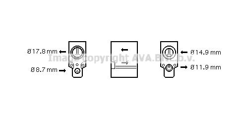 Detendeur de climatisation AVA QUALITY COOLING VN1076 (X1)