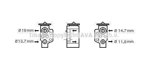 Detendeur de climatisation AVA QUALITY COOLING VN1243 (X1)