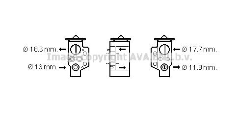 Detendeur de climatisation AVA QUALITY COOLING VN1311 (X1)