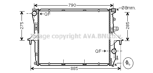 Radiateur de refroidissement AVA QUALITY COOLING VN2214 (X1)