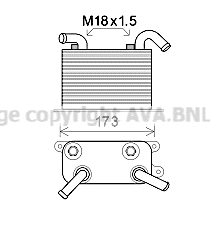 Radiateur huile AVA QUALITY COOLING VN3310 (X1)