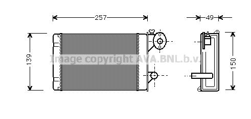 Radiateur de chauffage AVA QUALITY COOLING VN6062 (X1)