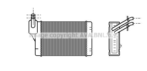 Radiateur de chauffage AVA QUALITY COOLING VN6069 (X1)