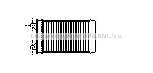 Radiateur de chauffage AVA QUALITY COOLING VN6117 (X1)