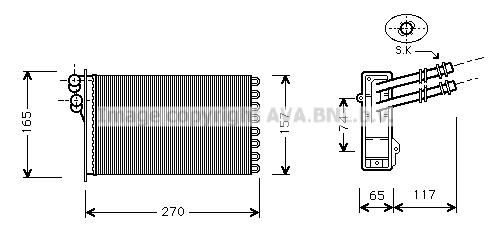 Radiateur de chauffage AVA QUALITY COOLING VN6175 (X1)