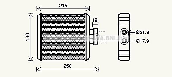 Radiateur de chauffage AVA QUALITY COOLING VN6196 (X1)