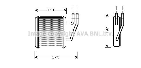 Radiateur de chauffage AVA QUALITY COOLING VN6203 (X1)