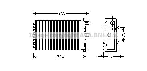 Radiateur de chauffage AVA QUALITY COOLING VN6239 (X1)