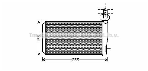Radiateur de chauffage AVA QUALITY COOLING VN6259 (X1)