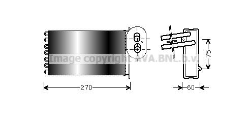 Radiateur de chauffage AVA QUALITY COOLING VN6296 (X1)