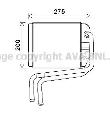 Radiateur de chauffage AVA QUALITY COOLING VN6378 (X1)