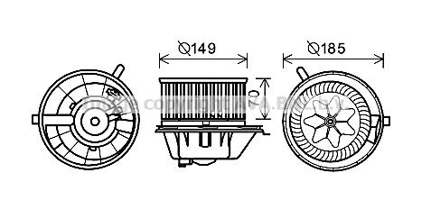 Moteur de ventilateur de chauffage AVA QUALITY COOLING VN8337 (X1)