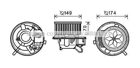 Moteur de ventilateur de chauffage AVA QUALITY COOLING VN8339 (X1)
