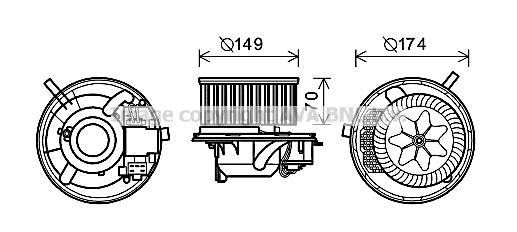 Moteur de ventilateur de chauffage AVA QUALITY COOLING VN8341 (X1)