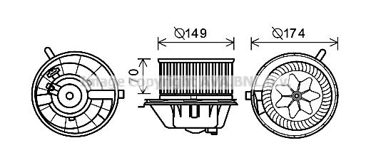 Moteur de ventilateur de chauffage AVA QUALITY COOLING VN8342 (X1)