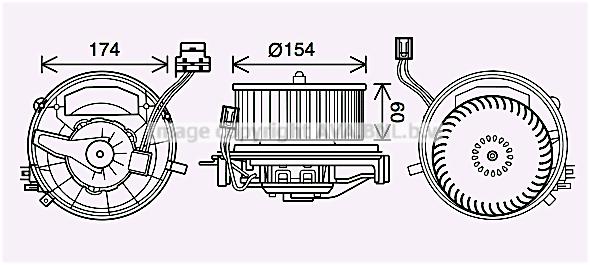 Moteur de ventilateur de chauffage AVA QUALITY COOLING VN8399 (X1)