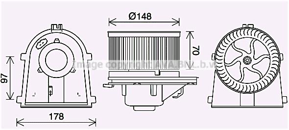 Moteur de ventilateur de chauffage AVA QUALITY COOLING VN8408 (X1)