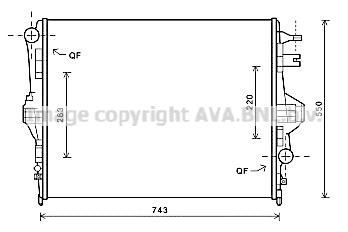 Radiateur de refroidissement AVA QUALITY COOLING VNA2316 (X1)
