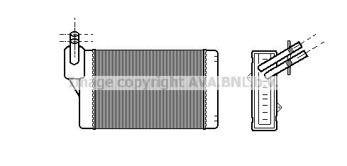Radiateur de chauffage AVA QUALITY COOLING VNA6060 (X1)
