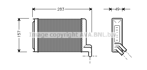Radiateur de chauffage AVA QUALITY COOLING VNA6067 (X1)
