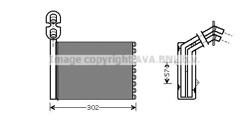 Radiateur de chauffage AVA QUALITY COOLING VNA6201 (X1)