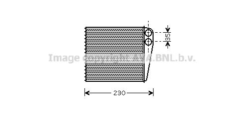 Radiateur de chauffage AVA QUALITY COOLING VNA6229 (X1)