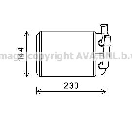 Radiateur de chauffage AVA QUALITY COOLING VNA6381 (X1)