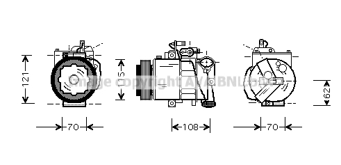 Compresseur AVA QUALITY COOLING VNAK064 (X1)