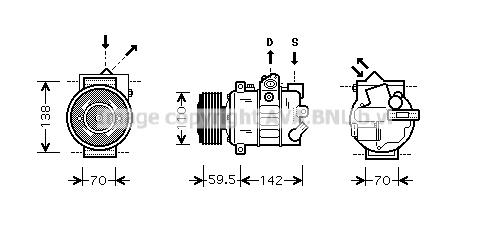 Compresseur AVA QUALITY COOLING VNAK220 (X1)
