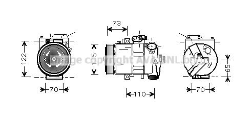Compresseur AVA QUALITY COOLING VNAK240 (X1)