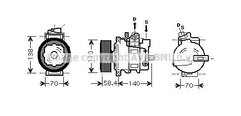 Compresseur AVA QUALITY COOLING VNAK265 (X1)
