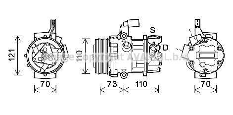 Compresseur AVA QUALITY COOLING VNAK375 (X1)