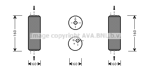 Bouteille deshydratante AVA QUALITY COOLING VND014 (X1)