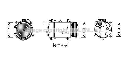 Compresseur AVA QUALITY COOLING VNK170 (X1)