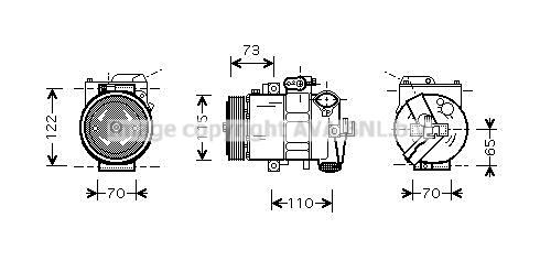 Compresseur AVA QUALITY COOLING VNK240 (X1)